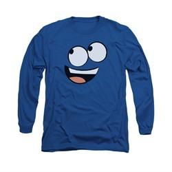 Foster's Home For Imaginary Friends Shirt Long Sleeve Blue Face Royal Blue Tee T-Shirt