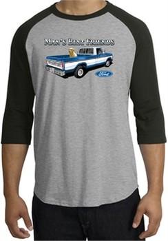 Ford Trucks Shirt Mans Best Friend Raglan Tee Heather Grey/Black