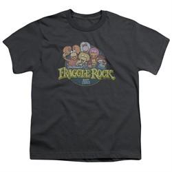 Fraggle Rock Kids Shirt Circle Logo Charcoal T-Shirt
