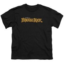 Fraggle Rock Kids Shirt Logo Black T-Shirt