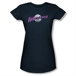 Galaxy Quest Shirt Juniors Logo Navy Tee T-Shirt