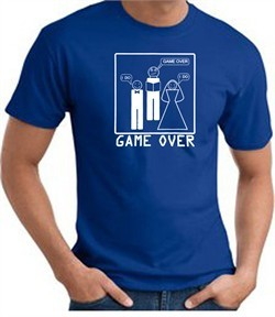 Game Over Marriage Ceremony T-shirt Funny Royal Tee
