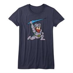 Ghost'N Goblins Shirt Juniors Arthur Navy Blue T-Shirt