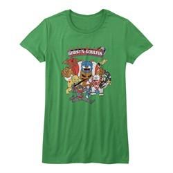 Ghost'N Goblins Shirt Juniors Poster Heather Green T-Shirt