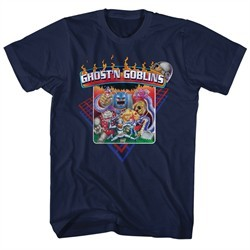 Ghost'N Goblins Shirt Logo Navy Blue T-Shirt