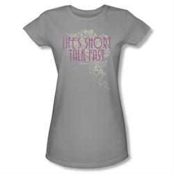 Gilmore Girls Shirt Juniors Life's Short Silver T-Shirt