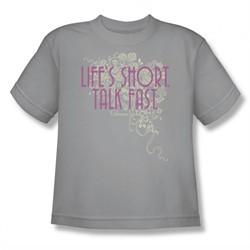 Gilmore Girls Shirt Kids Life's Short Silver T-Shirt