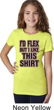 Girls Fitness Shirt Id Flex Tee T-Shirt