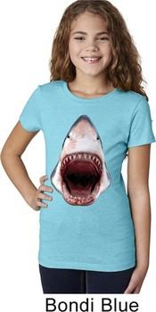 Girls Shark Shirt 3D Shark Tee T-Shirt