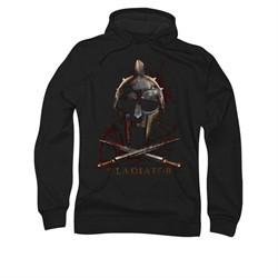Gladiator Hoodie Sweatshirt Helmet Black Adult Hoody Sweat Shirt