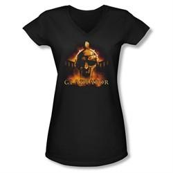 Gladiator Shirt Juniors V Neck My Name Is Black Tee T-Shirt
