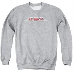 GMC Sweatshirt Chrome Logo Adult Athletic Heather Sweat Shirt