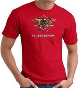 U.S. Navy Seals T-Shirts ? Devgru Adult Red