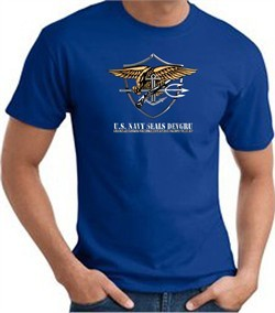 U.S. Navy Seals T-Shirts ? Devgru Adult Royal Blue