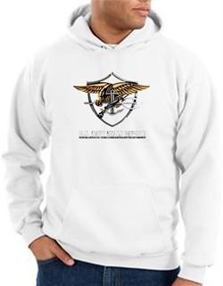 US Navy Seal Hoodie Hooded Sweatshirt ? Devgru Adult White Hoody