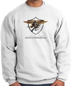 U.S. Navy Seal Crewneck Sweatshirt ? Devgru Adult Pullover White