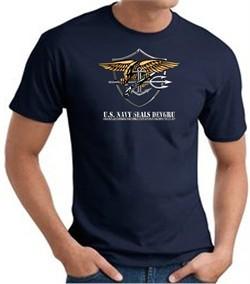 U.S. Navy Seals T-Shirts ? Devgru Adult Navy Blue