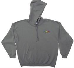 Grateful Dead Hoodie Bears Hooded Sweatshirt Smoke Grey Hoody