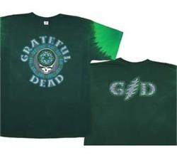 Grateful Dead T-shirt Tie Dye Celtic Face Tee Shirt