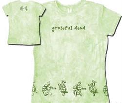 Grateful Dead Juniors T-shirt Turtles Green Fitted Girly Tee Shirt