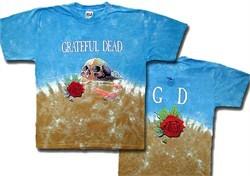 Grateful Dead T-shirt Tie Dye Desert Skull Tee Shirt