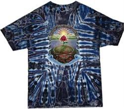 Grateful Dead T-shirt Tie Dye Rose Garden Tee Shirt