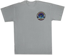 Grateful Dead Shirt Skull and Roses Adult Silver Tee T-Shirt