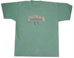 Grateful Dead Shirt Stealie Pigment Dyed Green Tee T-Shirt