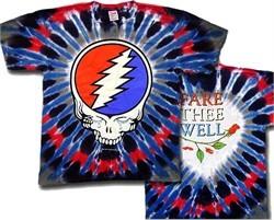 Grateful Dead T-shirt Steal Your Tears Tie Dye Tee Shirt