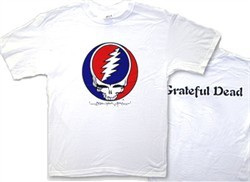 Grateful Dead T-shirt Steal Your Face Adult White Tee Shirt