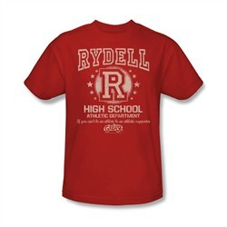 Grease Shirt Rydell High Adult Red Tee T-Shirt