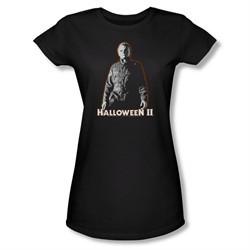 Halloween II Shirt Juniors Michael Myers Black Tee T-Shirt