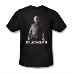 Halloween II Shirt Michael Myers Adult Black Tee T-Shirt