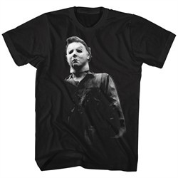 Halloween Shirt Michael Myers Boo Black T-Shirt