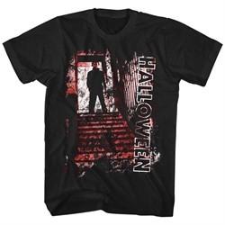 Halloween Shirt Stairs Black T-Shirt