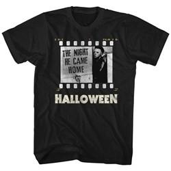 Halloween Shirt The Night He Came Home Black T-Shirt
