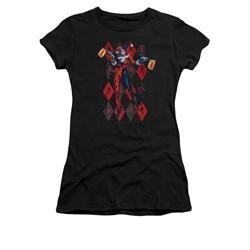 Harley Quinn Shirt Juniors Pow Pow Black T-Shirt