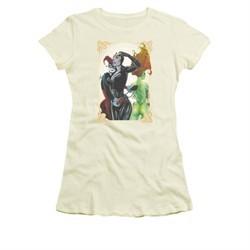 Harley Quinn Shirt Juniors Sirens Picture Cream T-Shirt