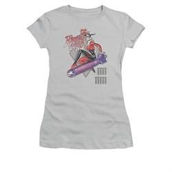Harley Quinn Shirt Juniors The Bomb Silver T-Shirt