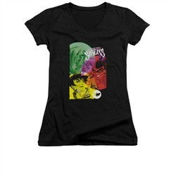 Harley Quinn Shirt Juniors V Neck Gotham Sirens Black T-Shirt