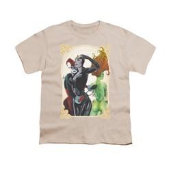 Harley Quinn Shirt Kids Sirens Picture Cream T-Shirt