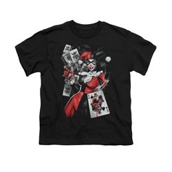 Harley Quinn Shirt Kids Smoking Gun Black T-Shirt