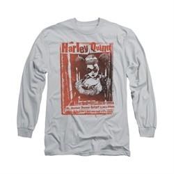Harley Quinn Shirt One Bad Chick Long Sleeve Silver Tee T-Shirt