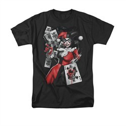 Harley Quinn Shirt Smoking Gun Black T-Shirt