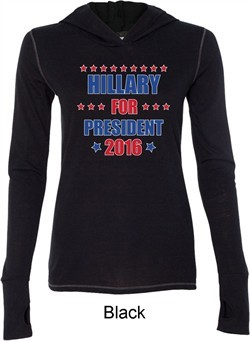 Hillary Clinton Shirt Hillary For President Ladies Tri Blend Hoodie