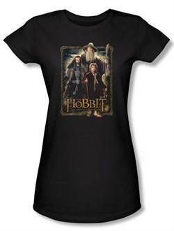 Hobbit Juniors Shirt Movie Unexpected Journey Loyalty Three Black Tee