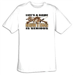 Hunting Is Serious Adult T-shirt Tee Shirt