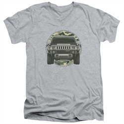 Hummer Slim Fit V-Neck Shirt Lead Or Follow Athletic Heather T-Shirt