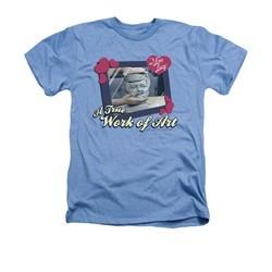 I Love Lucy Shirt Work Of Art Adult Heather Light Blue Tee T-Shirt