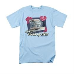 I Love Lucy Shirt Work Of Art Adult Light Blue Tee T-Shirt